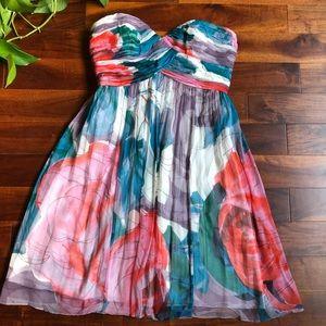 Donna Morgan Floral Print Bridesmaid Dress Sz 10